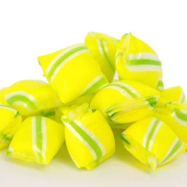 Handgefertigte Kissenbonbons Zitrone-Sahne